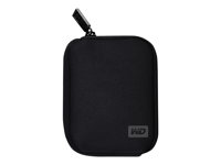 WD My Passport WDBABK0000NBK - Storage drive carrying case - black - for My Passport Essential WDBAAA5000, WDBACY7500; My Passport for Mac WDBAAB2500 WDBABK0000NBK-WRSN