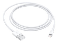 Apple - Lightning cable - USB (M) to Lightning (M) - 1 m - white - for Apple iPad/iPhone/iPod (Lightning) MQUE2ZM/A