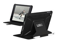 UAG Rugged Case for iPad Mini (2019) & iPad Mini 4 - Metropolis Black - Flip cover for tablet - polyurethane, thermoplastic polyurethane (TPU) - for Apple iPad mini 4; 5 121616114040