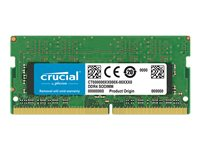 Crucial - DDR4 - 16 GB - SO-DIMM 260-pin - 2400 MHz / PC4-19200 - CL17 - 1.2 V - unbuffered - non-ECC CT16G4SFD824A